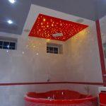 Лак 315 и лак 462. Натяжной потолок в ванной. / Натяжные потолки в Николаеве. /
