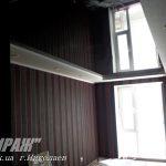 Лак 347. Чёрный натяжной потолок в зале. Николаев.