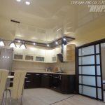 двухуровневые натяжные потолки на кухне, Николаев