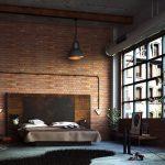 Лофт, современный дизайн, натяжные потолки, фотообои, фрески