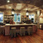 Натяжные потолки в дизайне, в стиле кантри Николаев