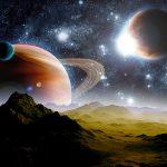 Звёздное небо, космос, планеты. Фотообои, купить в Николаеве.
