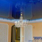 Лак 180. Синий натяжной потолок в зале, Николаев