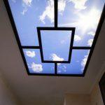 Пример натяжного потолка с запотолочной подсветкой