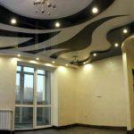 Комбинированный натяжной потолок. Криволинейная пайка.