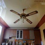 Комбинированный натяжной потолок. Прямолинейная пайка.