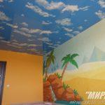 Натяжной потолок Небо в детской комнате.