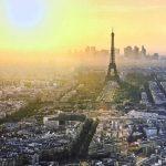 Фактура Иней. Франция. Фотообои на заказ, купить фотобои в Николаев. 3д. Франция, Париж, расвет над городом, эйфелева башня.