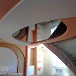 Лак 571. Тёмно-коричневый натяжной потолок в зале. / Натяжные потолки в Николаеве. /