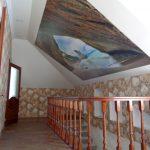 Натяжной потолок с фотопечатью на мансардной части потолка. / Натяжные потолки в Николаеве. /