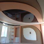 2 Натяжной потолок с гипсокартоном. Натяжные потолки в Николаеве.