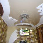 4 Натяжной потолок с гипсокартоном. Натяжные потолки в Николаеве.