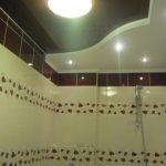 Лак 555. Натяжной потолок в ванной. / Натяжные потолки в Николаеве. /