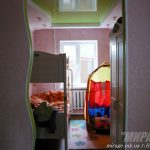 Лак 652. Зелёный натяжной потолок в детской. / Натяжные потолки в Николаеве. /