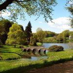 Природа, пейзаж, фотообои по индивидуальным размерам. Парк, мостик, Англия.